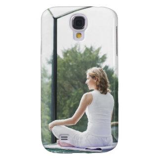 Woman Practicing Yoga Galaxy S4 Case