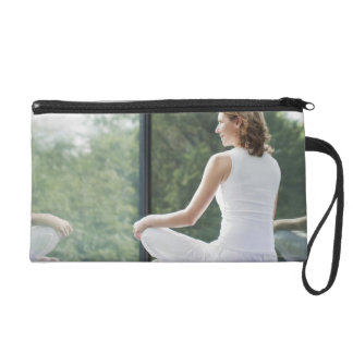 Woman Practicing Yoga Wristlet