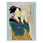 Woman reading a letter by Kitagawa, Utamaro Ukiyo Postcard