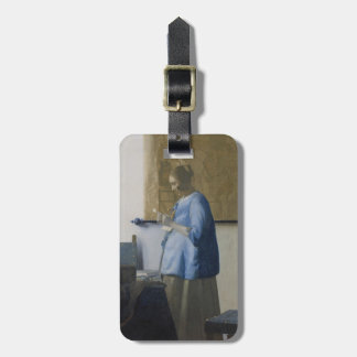 Woman Reading a Letter, c.1662-63 (oil on canvas) Luggage Tag