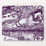 Woman Reading by a pond Mouse Pads