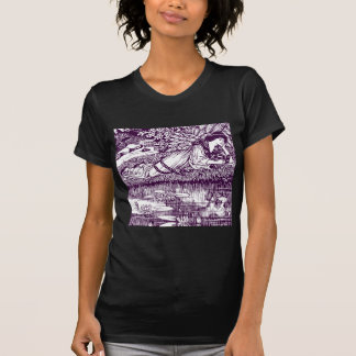 Woman Reading by a pond T-Shirt