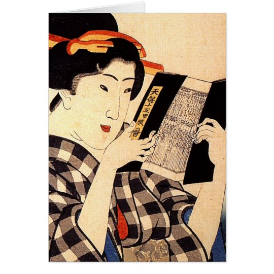 Woman reading card