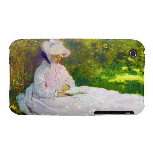 Woman Reading  Claude Monet iPhone 3 Cover