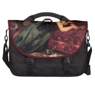 Woman Reading Love letter painting Laptop Commuter Bag