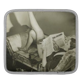 Woman Reading Magazine iPad Sleeve