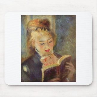 Woman Reading Mouse Pad