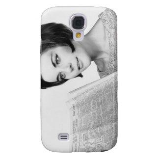 Woman Reading Newpaper Galaxy S4 Case