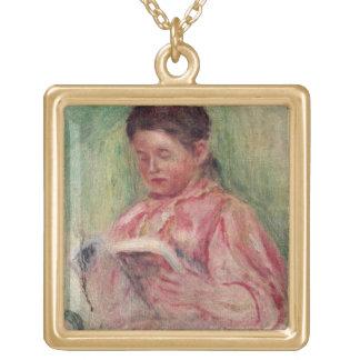 Woman Reading oil on canvas Custom Jewelry