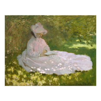 Woman Reading Springtime Monet Personalized Flyer