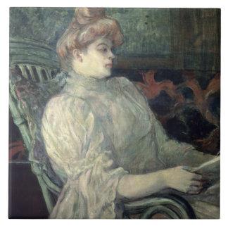 Woman Reading Tile