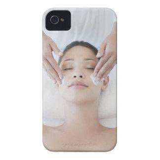 Woman receiving facial massage iPhone 4 case