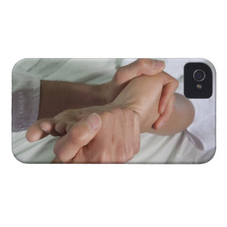 Woman receiving foot massage 2 iPhone 4 Case-Mate cases