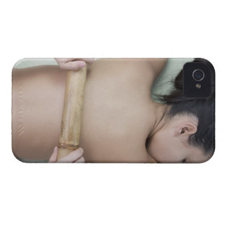 Woman receiving spa treatment iPhone 4 Case-Mate case