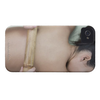 Woman receiving spa treatment iPhone 4 cover