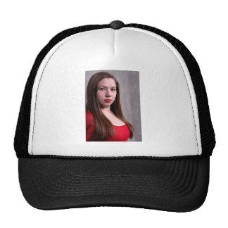 Woman Red Dress Cap