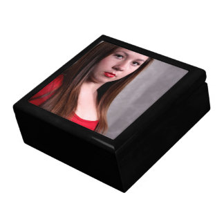 Woman Red Dress Large Square Gift Box