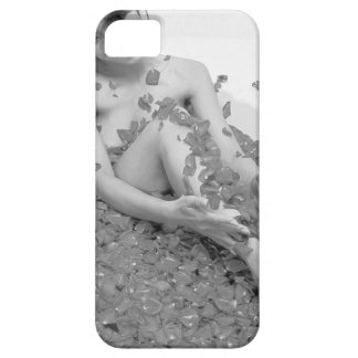 Woman relaxing in hot tub with flower petals, case for the iPhone 5