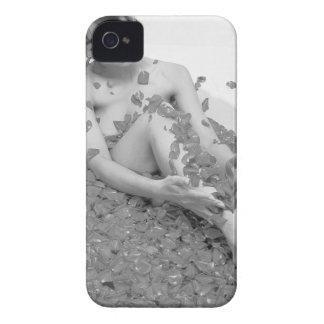 Woman relaxing in hot tub with flower petals, Case-Mate iPhone 4 case