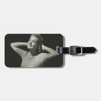 Woman Relaxing Luggage Tag