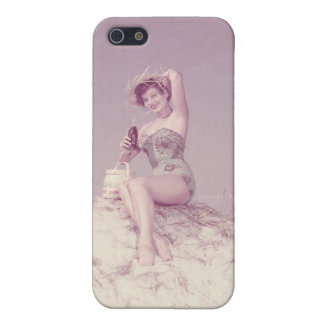 Woman Relaxing on Beach iPhone 5/5S Covers