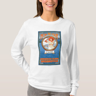 Woman Riding Ferry - Bainbridge Island, WA T-Shirt