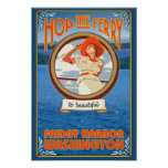 Woman Riding Ferry - Friday Harbour, Washington Posters