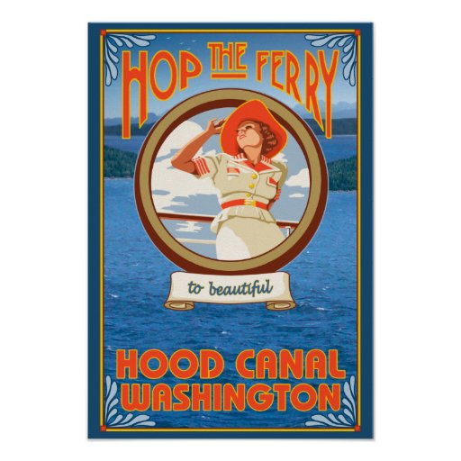 Woman Riding Ferry - Hood Canal, Washington Posters
