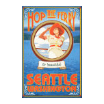 Woman Riding Ferry - Seattle, Washington Canvas Prints