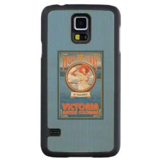 Woman Riding Ferry - Victoria, BC Canada Carved Maple Galaxy S5 Case