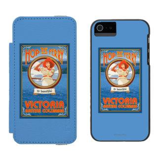 Woman Riding Ferry - Victoria, BC Canada Incipio Watson™ iPhone 5 Wallet Case