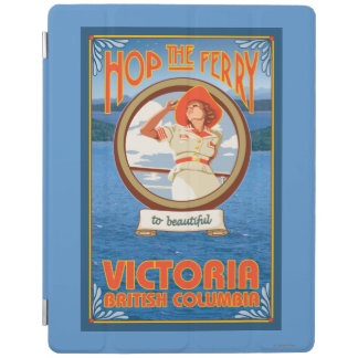 Woman Riding Ferry - Victoria, BC Canada iPad Cover