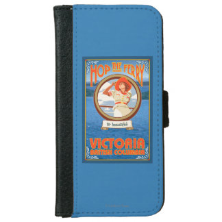 Woman Riding Ferry - Victoria, BC Canada iPhone 6 Wallet Case