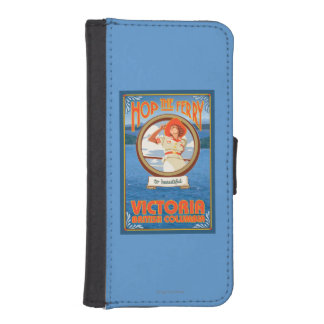 Woman Riding Ferry - Victoria, BC Canada iPhone SE/5/5s Wallet Case