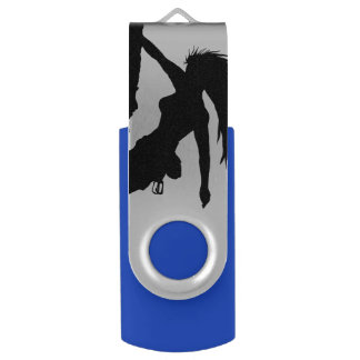 woman rock climbing Swivel USB drive Swivel USB 2.0 Flash Drive