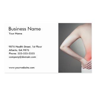 Woman s Back Business Card Template Business Cards