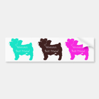 Woman's Best Friend colorful dog silhouettes Car Bumper Sticker