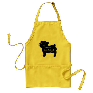 Woman's Best Friend dog silhouette of toy terrier Standard Apron