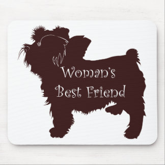 Woman's Best Friend dog silhouette of toy terrier Mouse Pad