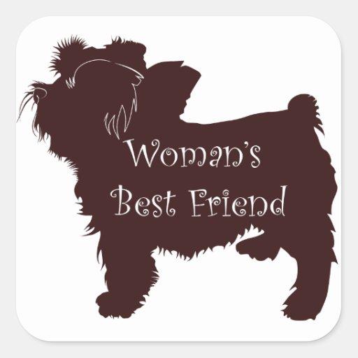 Woman's Best Friend dog silhouette of toy terrier Sticker