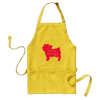 Woman's Best Friend silhouette of pink toy terrier Standard Apron