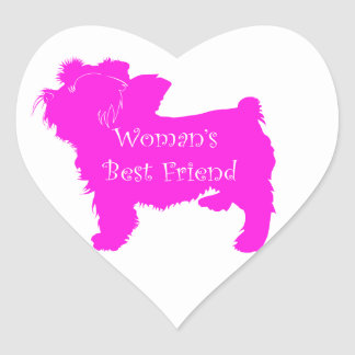 Woman's Best Friend silhouette of pink toy terrier Stickers