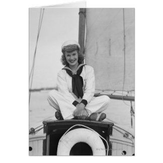 Woman Sailor Card