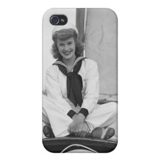 Woman Sailor iPhone 4/4S Covers