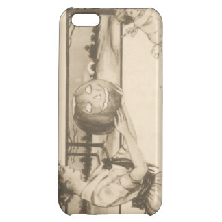 Woman Scaring Cupid Jack O' Lantern Pumpkin Case For iPhone 5C