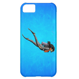 Woman SCUBA Diving iPhone 5C Covers