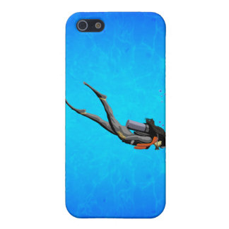 Woman SCUBA Diving Cover For iPhone 5/5S