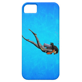 Woman SCUBA Diving iPhone 5 Cover