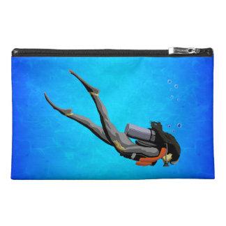 Woman SCUBA Diving Travel Accessory Bag