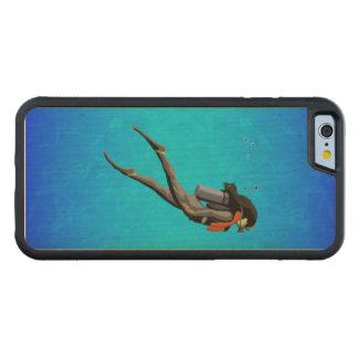 Woman SCUBA Diving Maple iPhone 6 Bumper Case